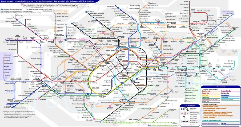 Plattegrond metro Londen
